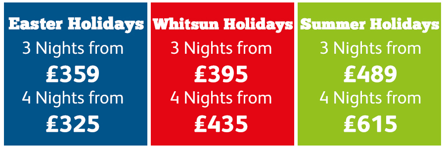 Low Deposit School Holiday Offers