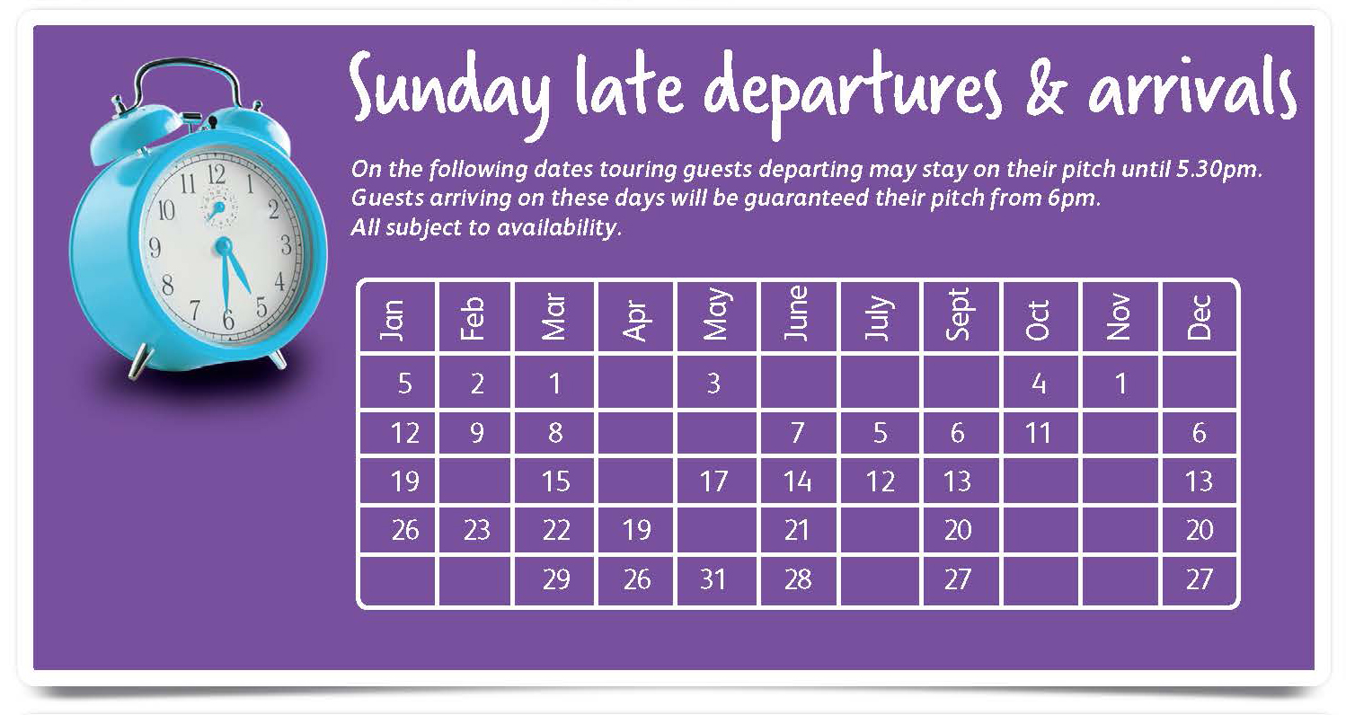 Sunday Departures and Arrivals